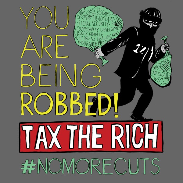 You Are Being Robbed! Created for Culturestrike, 2012.