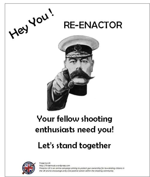 A Firearms UK meme from the Unity series on Historical Reenactment