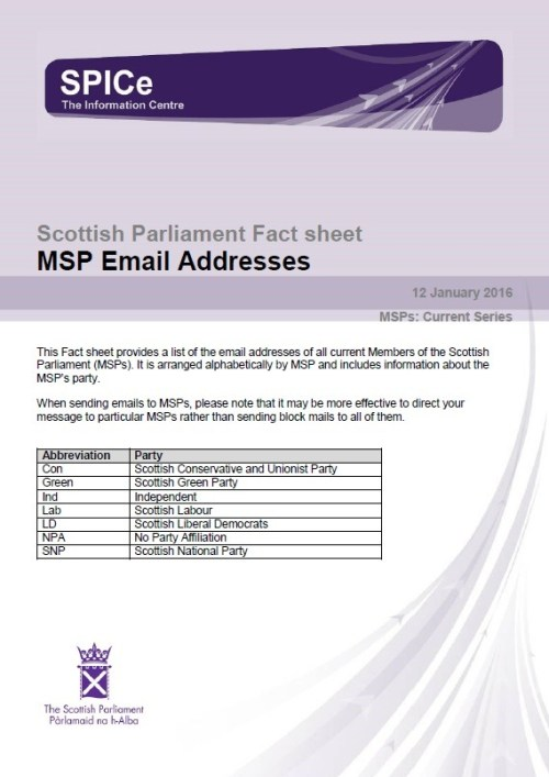 MSP Email Addresses