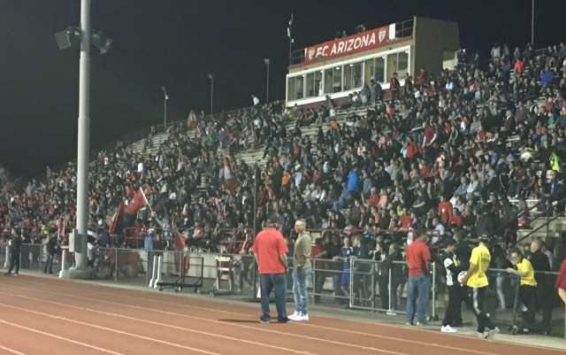 FC Arizona's inaugural match drew an announced crowd of 2,842