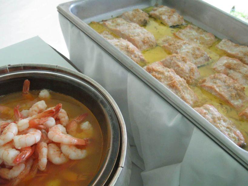 Shrimp and Salmon Scampi