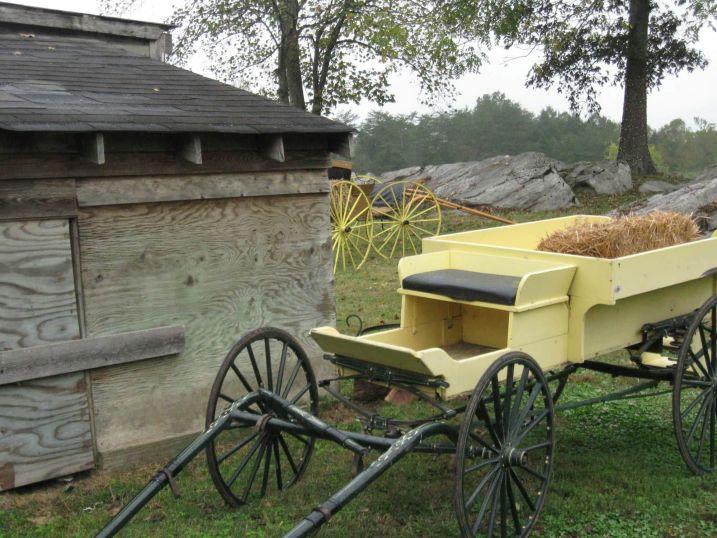 Hay Wagon and Storage Barn
