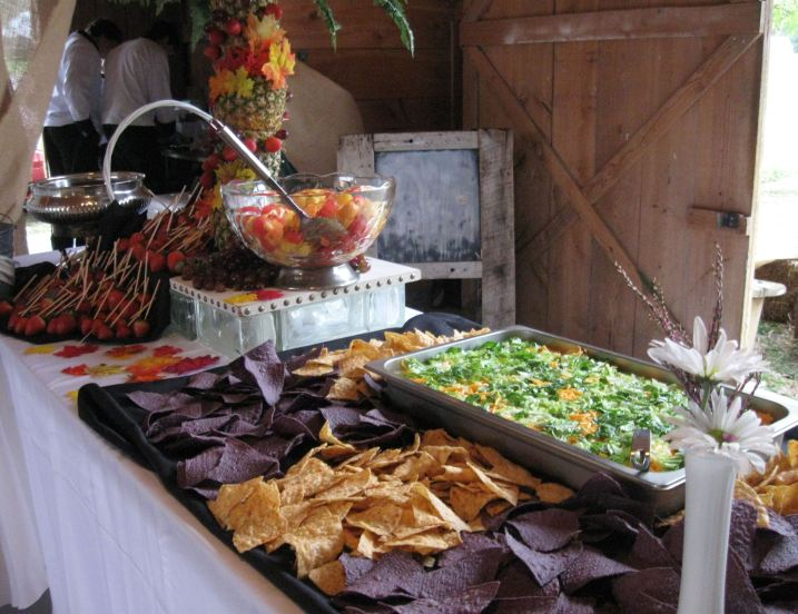 Seven Layer Mexican Dip with Fresh Fruit Fondue