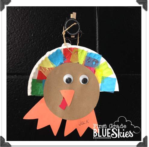 Thanksgiving activities and freebies first grade blue skies for Turkey crafts for first grade