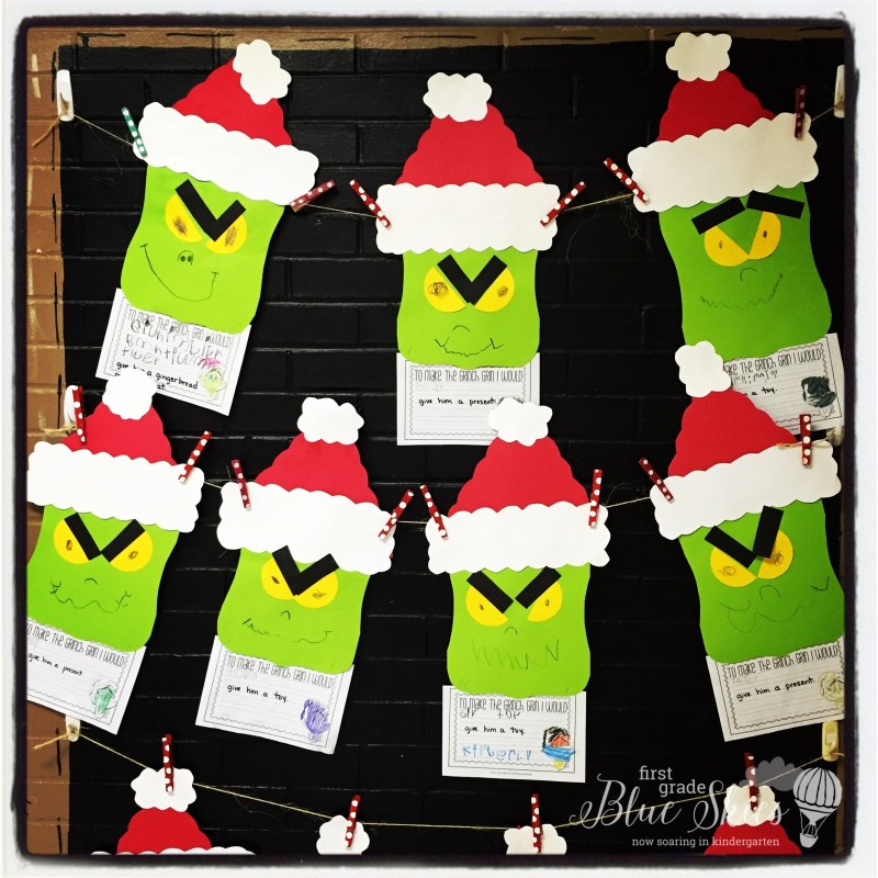 and made Grinch Dust {details HERE } by Mrs Samuelson's Swamp Frogs,