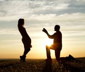 Sunset Proposal with Engaging Dialogue