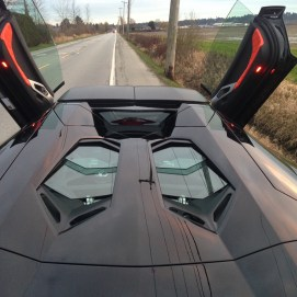 Jason out in a Lamorghini Aventador roadster.