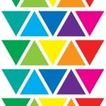 משולשים צבעוני