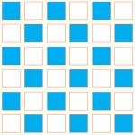 פסיפס כחול לבן