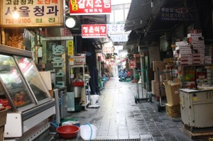 Various items are sold at Namdaemun Market.