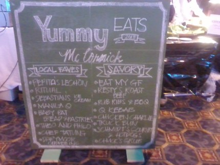 Trips available at the Yummy Eats adventure. My golden plate, as my ride, was waiting for me.