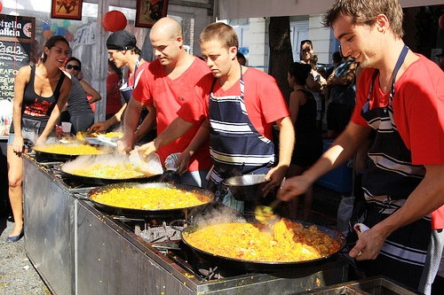 Paella is one of the food in Spain. Image by Francisco Martin.