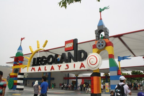 Colorful designs adorn the entrance of Legoland Malaysia.