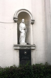 Image at the facade of the church.