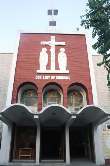Our Lady of Sorrows facade.