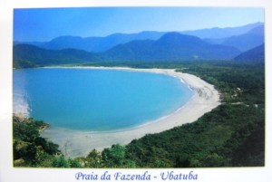 Wouldn't you like to take a dip in this breathtaking blue sea in Brazil?