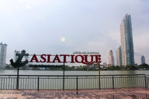 The Asiatique The Riverfront is now a famous landmark in Bangkok.