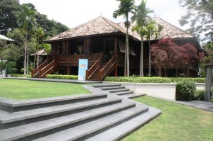 The famous teak house.
