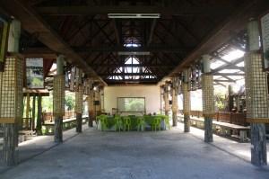 The open-air multi-purpose hall.