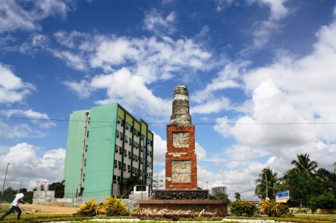 The Pison Muscovado Mill monument.