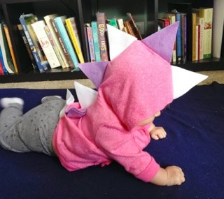 DIY Baby Dinosaur Costume