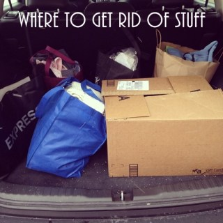 Where to get rid of stuff