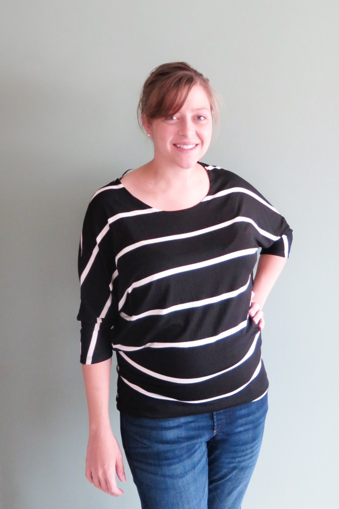 Stitch Fix Renee C Jemdy Striped Dolman Sleeve Jersey Knit Top