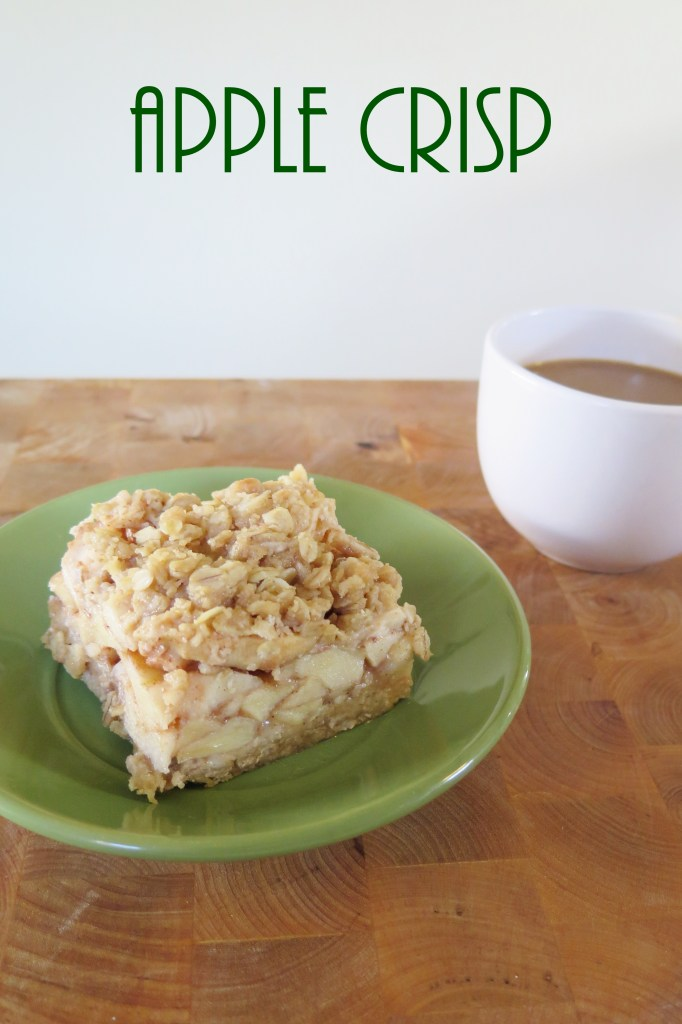 Apple crisp with oatmeal crumble