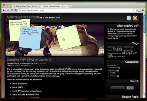Adhesive: extensión de Chrome para dejar notas virtuales (recordatorios).