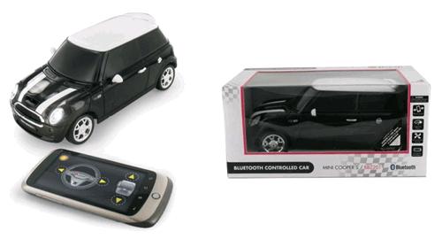 Juguete Mini Cooper controlado por teléfonos Android