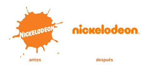 Logotipos viejo y nuevo de Nickelodeon