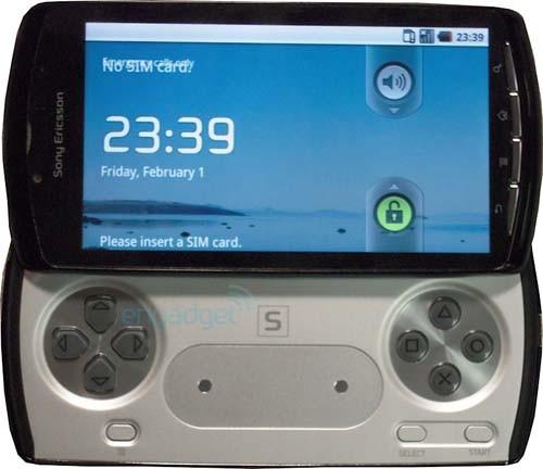 Vista frontal del teléfono PlayStation