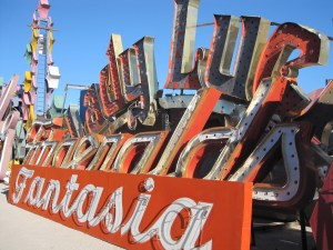 Fantasia at the Neon Boneyard in Las Vegas