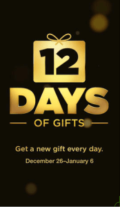 iTunes 12 Days of Gifts App