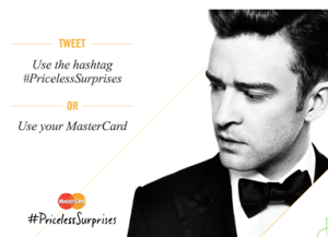 MasterCard Contest to See Justin Timberlake