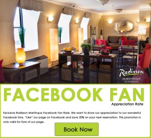 Facebook Friend Discount at Radisson Martinique