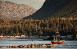 Sadler navigates the waters of the Nootka Sound near Vancouver Island