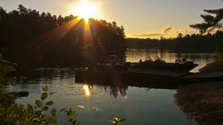 A beautiful morning sunrise on the Upper French River