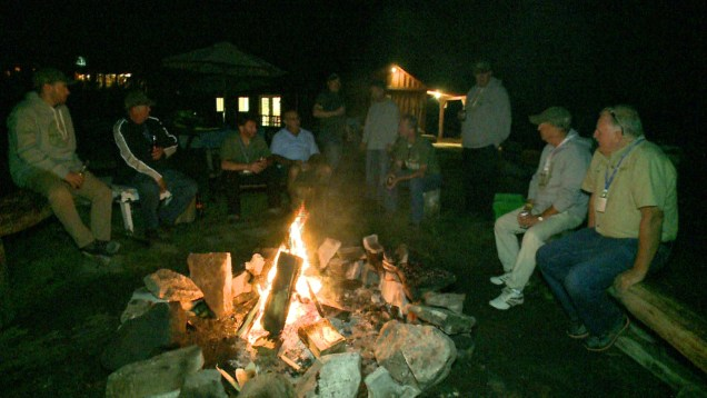 Some of the Boot Campers enjoying the night life by the fire