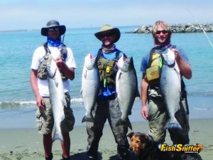 Chris Mayes, Matthew Mays and Rob had an outstanding kayak fishing adventure on Humboldt Bay on August 1.