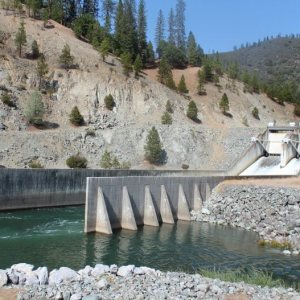 Photo of Lewiston Dam on the Trinity River by Dan Bacher.