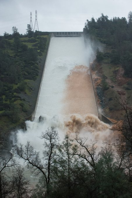 State officials increase releases into eroded Oroville Dam spillway to 35,000 cfs!