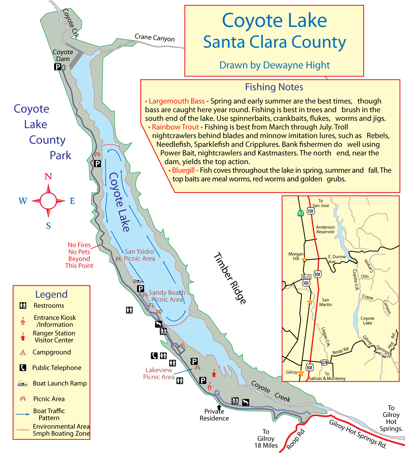 Maps for Lake mcclure fishing report