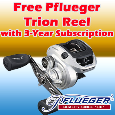 3 Years / 78 Issues w/ FREE Pflueger Trion Reel