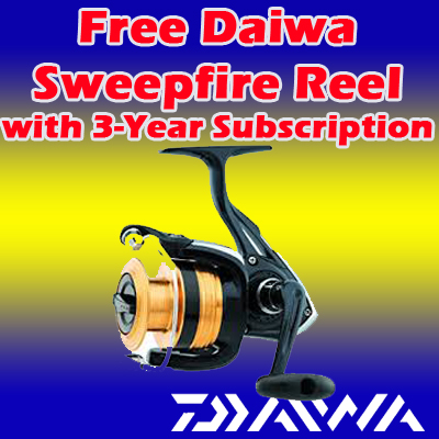 3 Years / 78 Issues w/ FREE Daiwa Spinning Reel