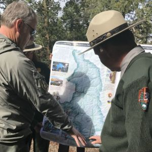 Secretary Ryan Zinke and A Park Ranger. Photo courtesy of Department of Interior.