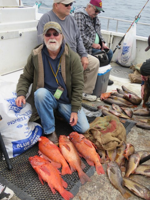 Big Farallon Island rockfish were on the chomp during the July 14 Cal Kellogg School of Fishing adventure aboard the Goldeneye 2000. Many of the anglers that joined Cal on the trip scored sacks of fish that weighed over 50 pounds!