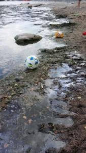 Olja och alggegga på barnbadet på Fisksätra holme 2014-07-29 15:14