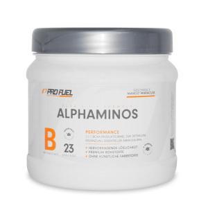 ProFuel Alphaminos BCAA sind ideal um Muskeln zu erhalten und tragen zur Regeneration bei.