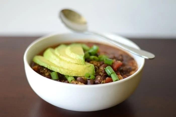 Black Bean and Quinoa Chili   FitFoodieFinds.com #heathy #recipe #glutenfre #chili
